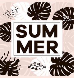 Word slogan summer in a square white vector