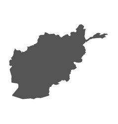 afghanistan map black icon on white background vector image vector image