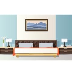 Bedroom Flat vector image
