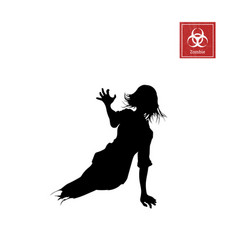 black silhouette of women zombie without legs vector image