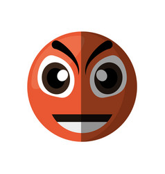 evil emoticon cartoon design vector image