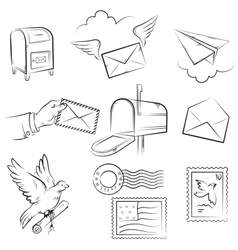 mail and post delivery vector image vector image