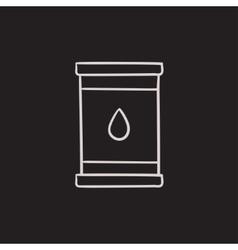Oil barrel sketch icon vector image
