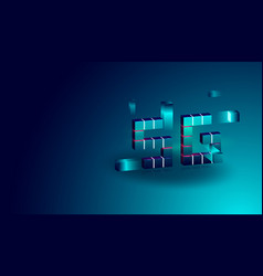 5g technology isometric concept banner with 3d vector image