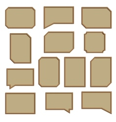A set of wooden frames vector image