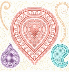 Abstract folk elements vector image