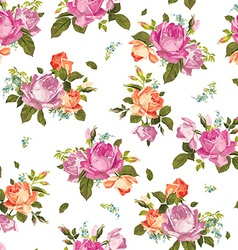 Abstract seamless floral pattern with pink and vector