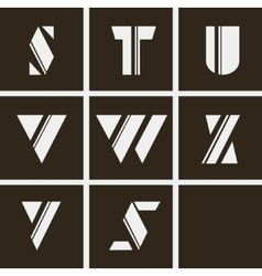 Alphabet letters of geometric shapes and lines vector