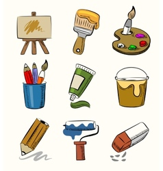 Art icon set vector