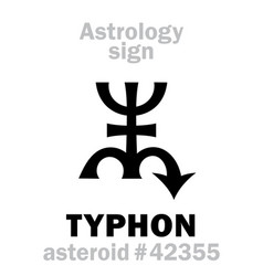 Astrology asteroid typhon vector