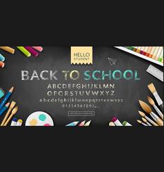 banner back to school alphabet sketch vector image