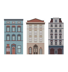 beautiful detailed cityscape collection vector image