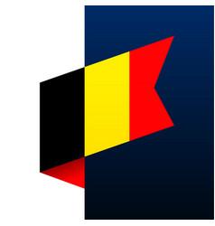 Belgium corner flag icon national emblem vector