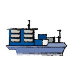 Big merchandise ship vector