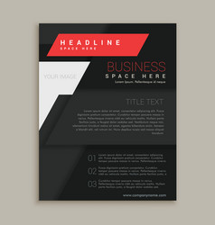 black brochure design template vector image