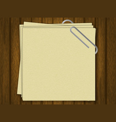 blank for text crafting paper template for your vector image