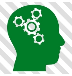 Brain Mechanics Icon vector
