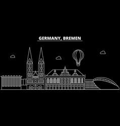 bremen silhouette skyline germany - bremen vector image