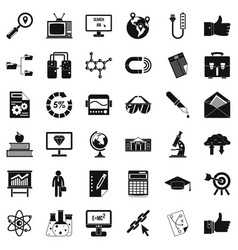 business analysis icons set cartoon style vector image