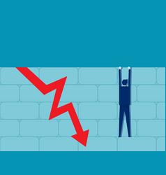 Business decrease chart concept chart vector