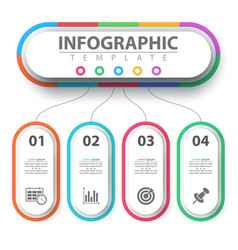 Business infographic paper origami template vector