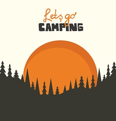 Camping background vector image