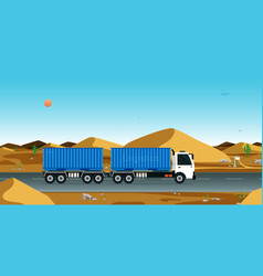 cargo transportation by truck vector image