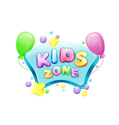 Cartoon kids zone poster template vector
