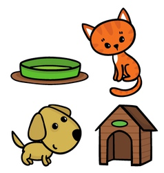 Cat and dog vector