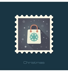 Christmas Shopping bag stamp vector