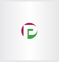 circle logotype p letter icon vector image