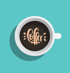 Coffee cup flat vector