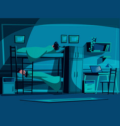 college student dormitory vector image