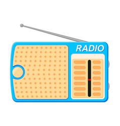 colorful cartoon radio vector image