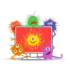 Computer virus internet security vector