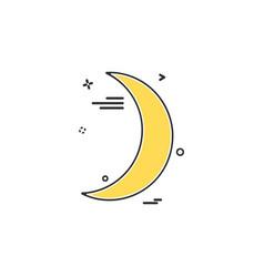 crescent icon design vector image