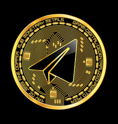 Crypto currency gram golden symbol vector