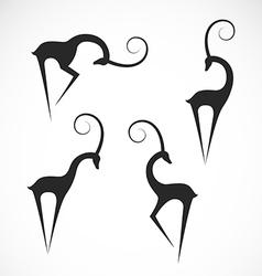 Deers design vector image