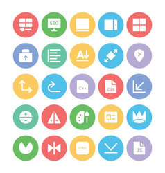 Design and development icons 11 vector