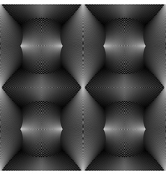Design seamless monochrome convex pattern vector image