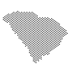 Dot south carolina state map vector