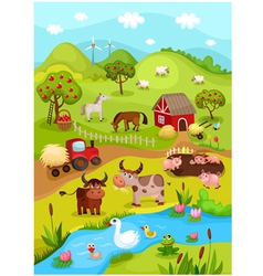 farm card vector image