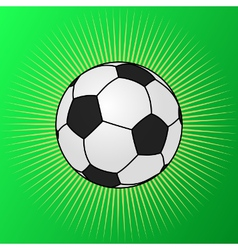 Football shining on green grass vector