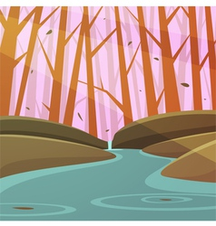 Forest Stream vector image