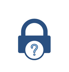 forgot lock office password icon vector image