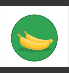 Fresh banana cartoon rounded vector
