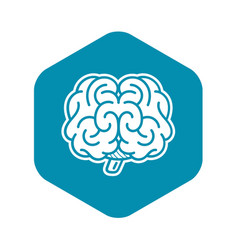 Front brain icon simple style vector