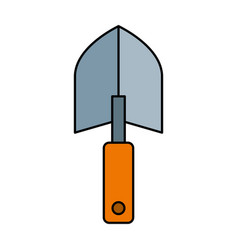 Garden shovel isolated icon vector
