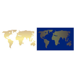 Gold abstract world map vector