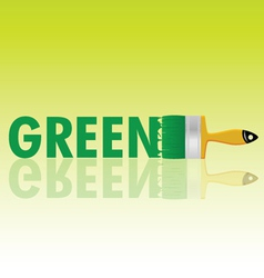 Green with brush vector